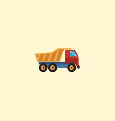 flat icon dumper truck element vector image