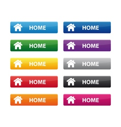 Home buttons vector image vector image