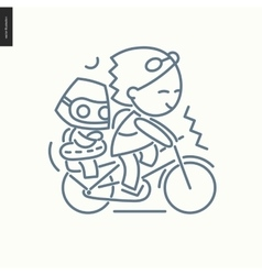 outlined icon vector image