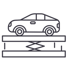 suspensioncar service line icon sign vector image