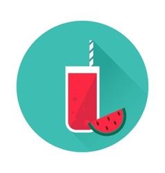 Watermelon juice icon vector image