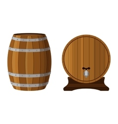 Wooden cask with rum Cognac brandy scotch in vector image vector image