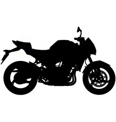 motorbike silhouette vector image vector image