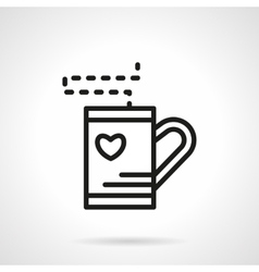Simple line tea cup icon vector image