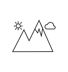 mountain icon isolated sign vector image vector image