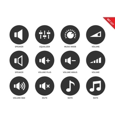 Volome icons on white background vector image vector image