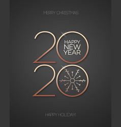 2020 celebration greeting card 3d gold vector image
