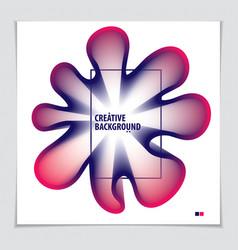 3d flower shape gradient color shape abstract art vector image