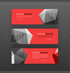 3d lowpoly solid abstract corporate banner design vector