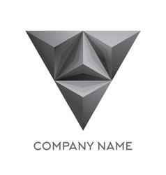 Abstract company logo with 3d triangle vector