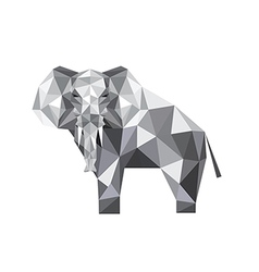 abstract origami elephant vector image