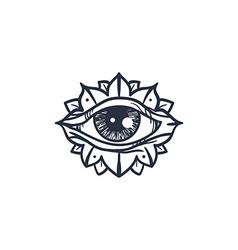 All Seeing Eye in Mandala vector