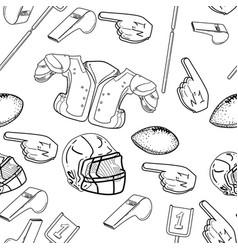 American football seamless pattern vector
