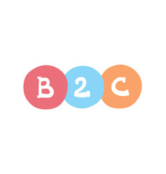 B2c concept business-to-client business vector