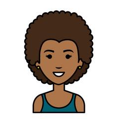 beautiful black woman avatar character vector image