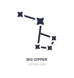 Big dipper icon on white background simple vector