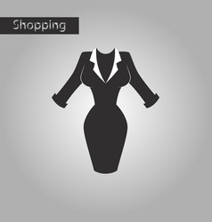 Black and white style icon office dress vector