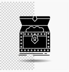 Box chest gold reward treasure glyph icon on vector