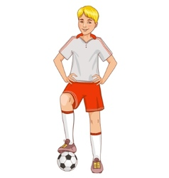 Boy with a football vector image