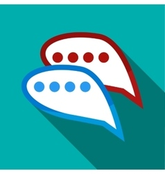 Bubble speech icon flat style vector image