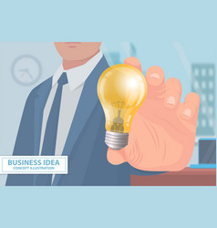 business idea concept poster vector image