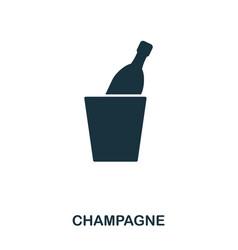 champagne icon line style icon design ui vector image