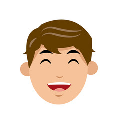 character man face laughing image vector image