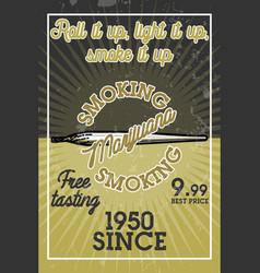 color vintage marijuana banner vector image