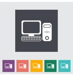 Computer icon 2 vector