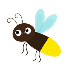 Cute firefly beetle bug insect animal cartoon vector