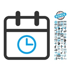 Day Time Flat Icon With Bonus vector image
