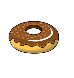 dlicious and sweet donut bakery vector image