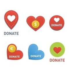 Donate buttons set vector