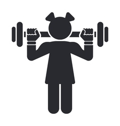 Female gym icon vector