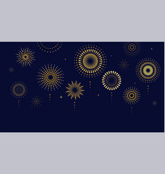 fireworks firecracker at night celebration vector image