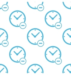 Flat remove time pattern vector image