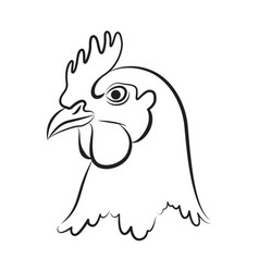 Graphic chicken head vector