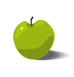 Green apple isolated on white background vector