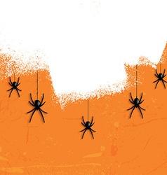 Grunge halloween spiders 2708 vector