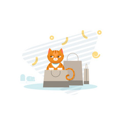Hunting cat concept vector