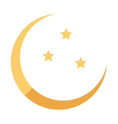 Icon in a flat style ramadan moon and stars vector