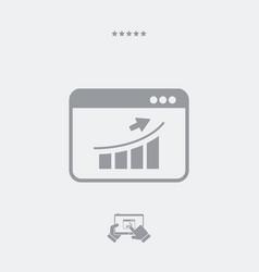 increase box flat icon vector image