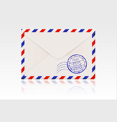 international mail envelope backside with postal vector image