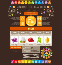 Iron mineral vitamin pill supplement food icons vector