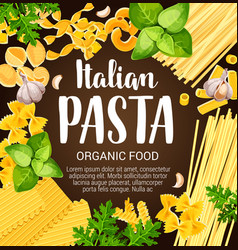 Italian pasta with herbs and spices vector