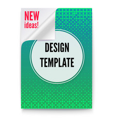 layout template in a4 size business brochure vector image