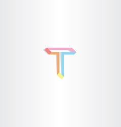 letter t t icon vector image