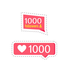 Like social network buttons with numbers vector
