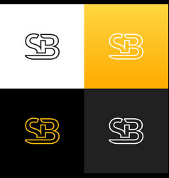 Logo sb linear logo of the letter s and b vector