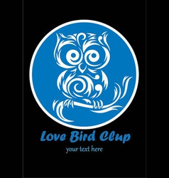 love bird club bird logo design vector image
